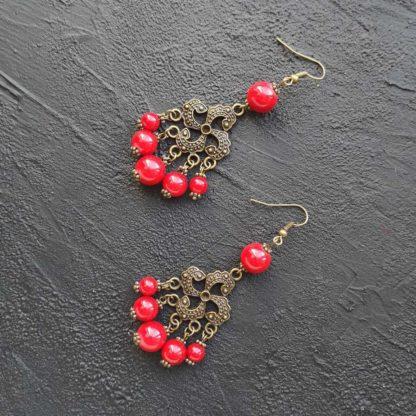 Сережки з коралом фото 105