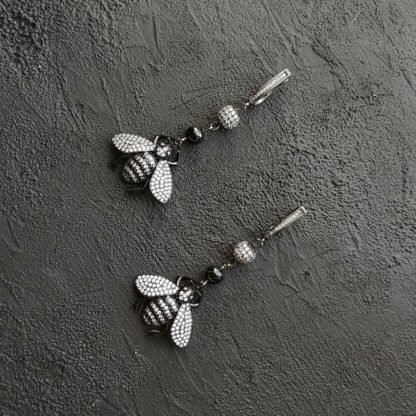 Сережки Крила з агатом фото 1
