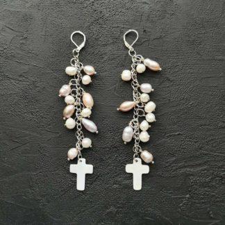 Сережки з перлами фото 101