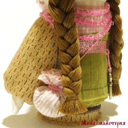 Оливкова текстильна лялька-оберіг купити