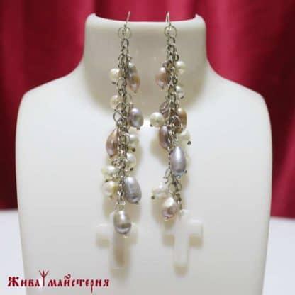 Сережки з перлами 55