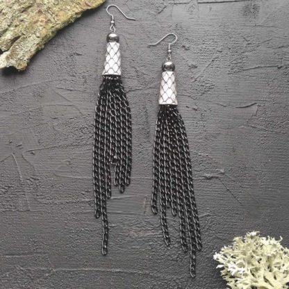 Сережки з гематитом фото 102