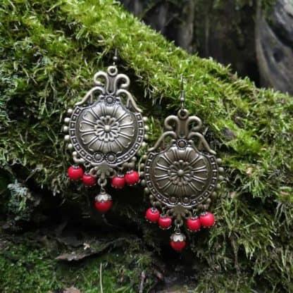Сережки з коралом Царівна фото 6