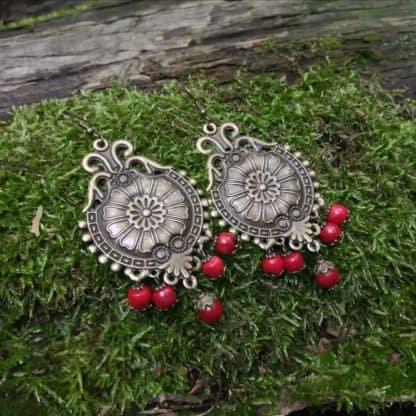 Сережки з коралом Царівна фото 5