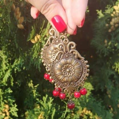 Сережки з коралом Царівна фото 4