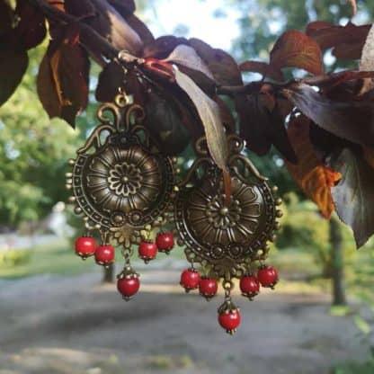 Сережки з коралом Царівна фото 3