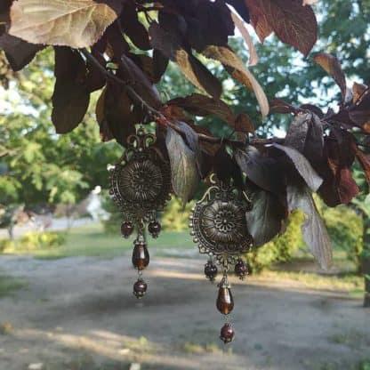 Гранатові сережки Рапсодія фото 3