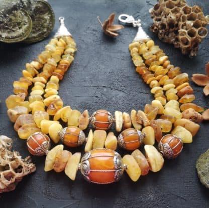 Намисто бурштинове Мула-мантра фото 2